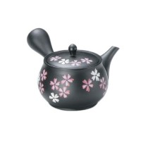Black Clay Sakura Teapot